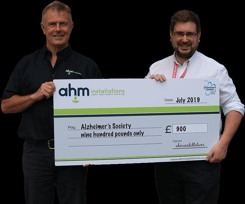 AHM charity cheque Wellington