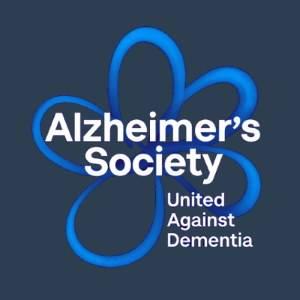 Alzheimers Society Logo in blue & black Wellington